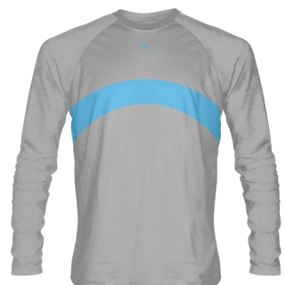 Silver Long Sleeve Basketball Shooter Shirts