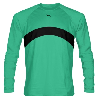 Teal Long Sleeve Basketball Shooter Shirts