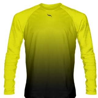 Yellow Long Sleeve Basketball Shooter Shirts