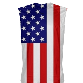 American Flag Sleeveless Shirt