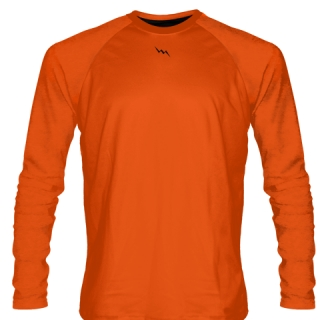 Orange Long Sleeve Softball Jerseys