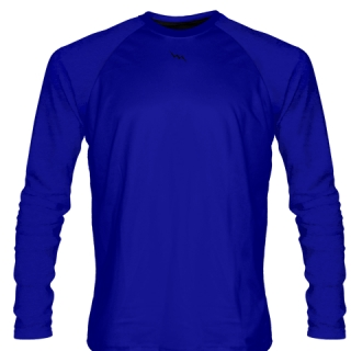 Royal Blue Long Sleeve Softball Jerseys