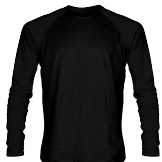 Black Long Sleeve Softball Jerseys