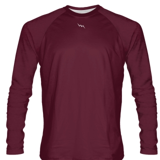 Maroon Long Sleeve Softball Jerseys