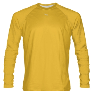 Athletic Gold Long Sleeve Softball Jerseys
