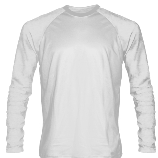 White Long Sleeve Softball Jerseys