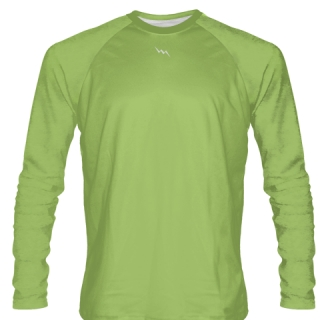 Lime Green Long Sleeve Softball Jerseys