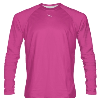 Hot Pink Long Sleeve Softball Jerseys