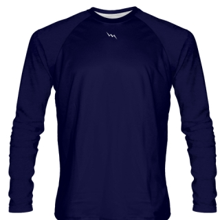 Navy Blue Long Sleeved Softball Jerseys