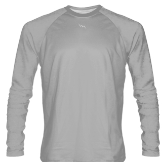 Silver Long Sleeve Softball Jerseys