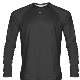 Dark Gray Long Sleeve Softball Jerseys