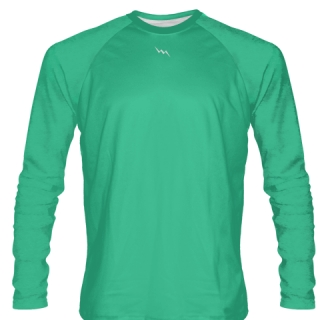 Teal Long Sleeve Softball Jerseys