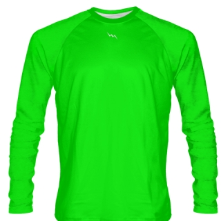 Neon Green Long Sleeved Softball Jerseys