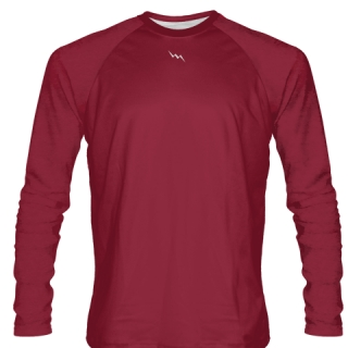 Cardinal Red Long Sleeve Softball Jerseys