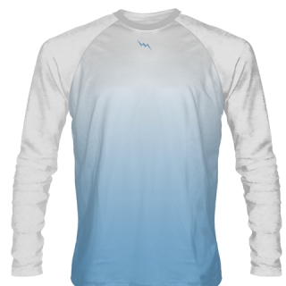 Columbia Blue Long Sleeve Softball Jerseys