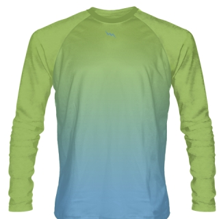 Lime Green Long Sleeved Softball Jerseys