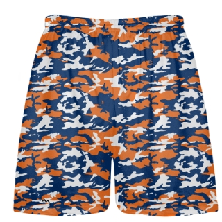 Orange Blue Camouflage Lacrosse Shorts