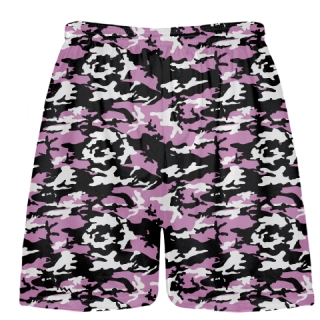 Pink Black Camouflage Lacrosse Shorts