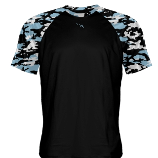 Camouflage Shooter Shirts Powder Blue Black