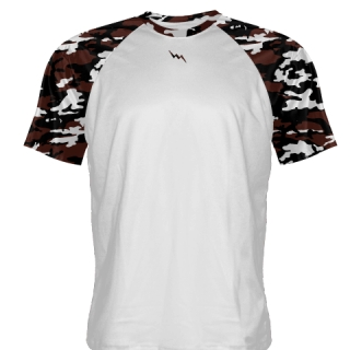 Camouflage Shooter Shirts Maroon and Black