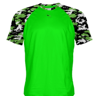 Neon Green Camouflage Shooter Shirts