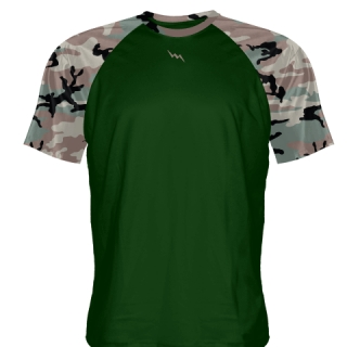 Dark Green Camouflage Shooter Shirts