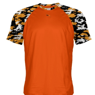 Orange Camo Short Sleeve Shooter Shirts