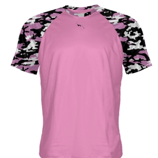 Custom Pink Camouflage Shooter Shirts