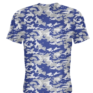 Blue Gray Camouflage Shooter Shirts