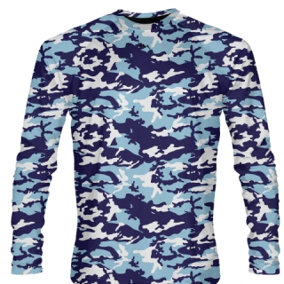 Long Sleeve Camo Shirts Blue Light Blue