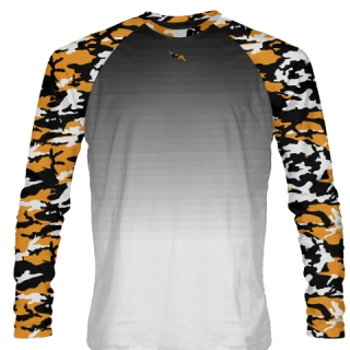 Orange Camouflage Long Sleeve T Shirts