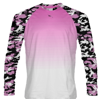 Pink Camouflage Long Sleeve Shirts