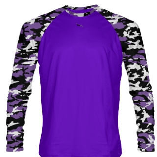 Purple Long Sleeve Camouflage Shirts