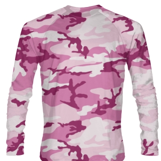 Pink Camouflage Long Sleeved Shirts