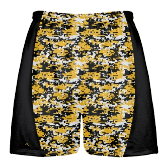 Athletic Gold Digital Camouflage Lacrosse Shorts
