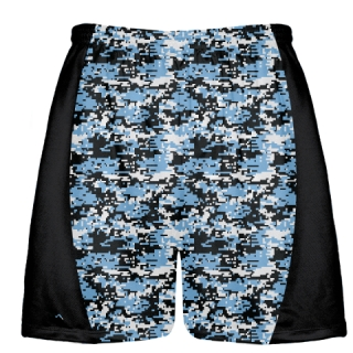 Carolina Blue Digital Camouflage Lacrosse Shorts