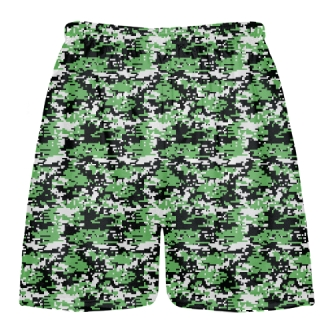Kelly Green Digital Camouflage Lacrosse Shorts