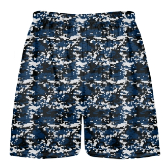 Navy Digital Camo Lacrosse Shorts