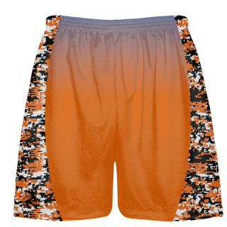 Orange Digital Camouflage Lacrosse Shorts