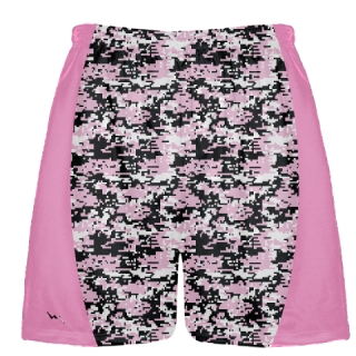 Pink Digital Camouflage Lax Shorts