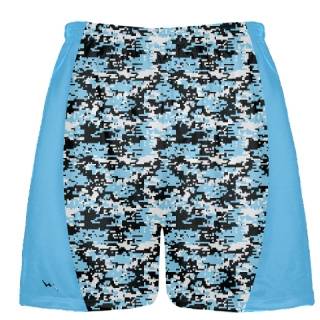 Powder Blue Digital Camouflage Lacrosse Shorts