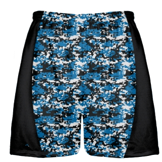 Royal Blue Digital Camouflage Lax Shorts