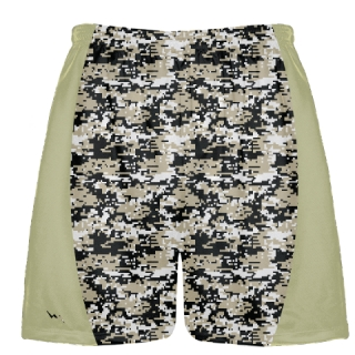 Vegas Gold Digital Camouflage Lacrosse Shorts