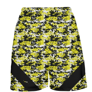 Yellow Digital Camouflage Basketball Shorts