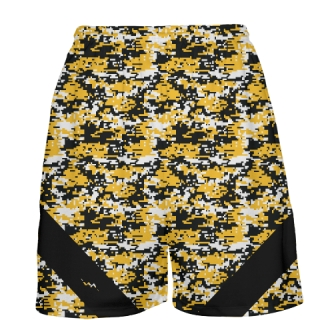 Gold Digital Camouflage Basketball Shorts