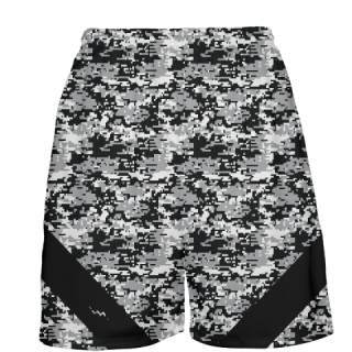 Black Digital Camouflage Basketball Shorts