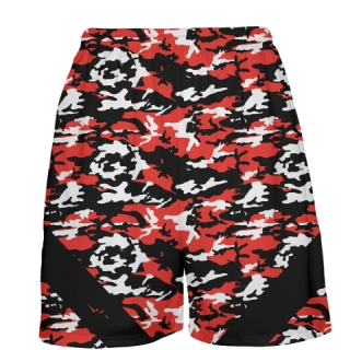 Red Camouflage Basketball Shorts