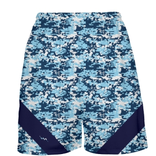 Navy Light Blue Digital Camouflage Basketball Shorts