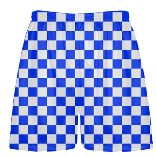 Blue Checker Board Shorts