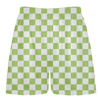 Lime Green Checker Board Shorts